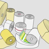Posso imprimir etiqueta adesiva em uma impressora de cupom ou recibo?