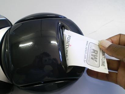 RW Pointline Recarga - Retirar excesso de papel
