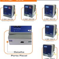Modelos Trix XREP-520 - Biometria, Código de Barras, Proximidade. Detalhe - Porta Fiscal