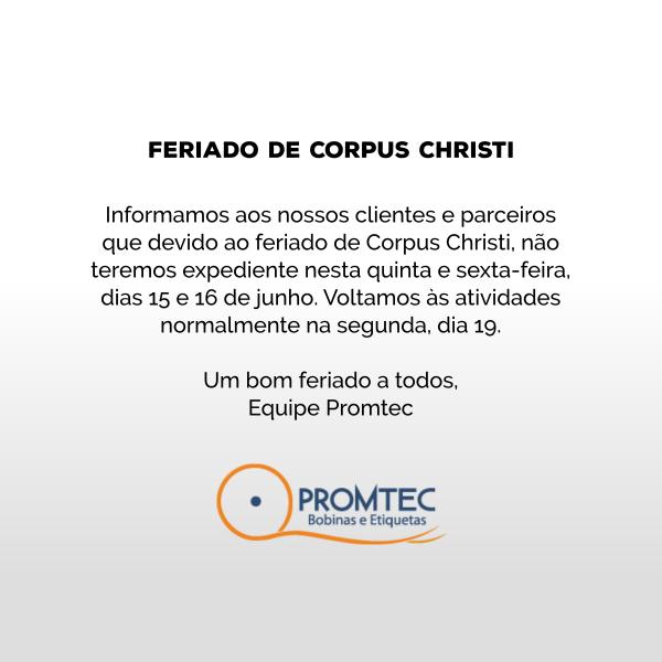 aviso de feriado: corpus christi