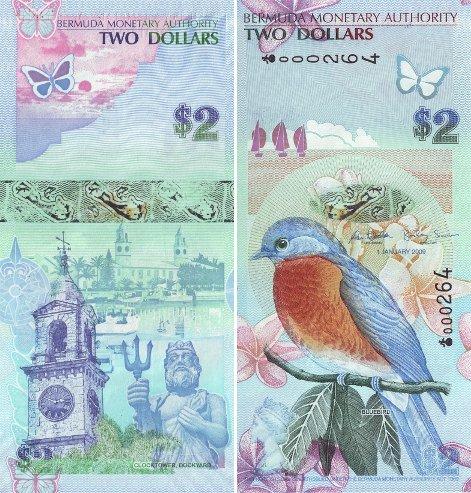 Nota de 2 Dólares Bermudenses
