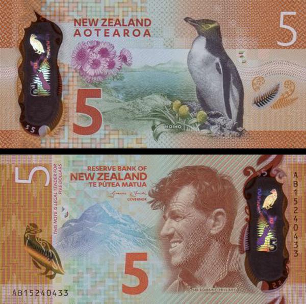 Nota de 5 Dólares Neozelandeses