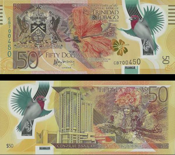 Nota de 50 Dólares de Trinidad e Tobago