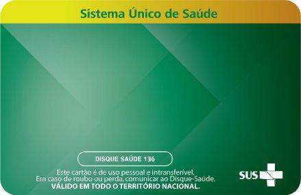 Novo Layout Cartão SUS - Verso - Portaria MS/GM Nº 940 de 28 de Abril de 2011