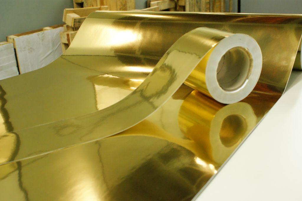 Etiqueta de Poliéster Ouro Brilhante - Dourado