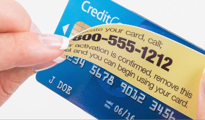 Etiquetas Removíveis para Cartões de Crédito