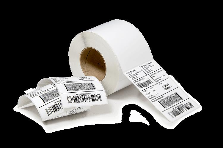 Etiqueta Adesiva de Papel Couchê Impressa com Ribbon