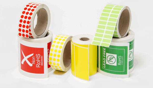 Etiquetas de Poliéster Coloridas
