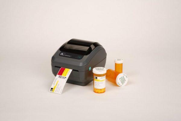 BOPP termico em frascos remedio e GX420