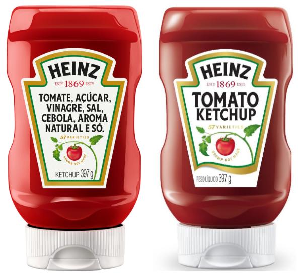 Comparação Rotulo Heinz