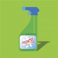 Rótulo para produtos de limpeza (saneantes)