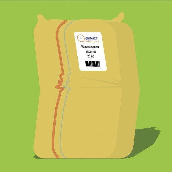 Etiquetas para sacarias (ráfia)