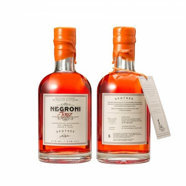 Rótulo Negroni Jerez - Apothek Cocktails & Co.