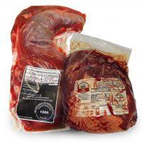 carnes embaladas a vacuo com etiquetas internas em contato direto com o alimento