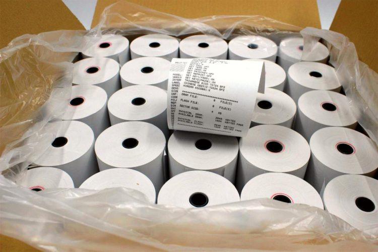 caixa de etiqueta térmica adesiva