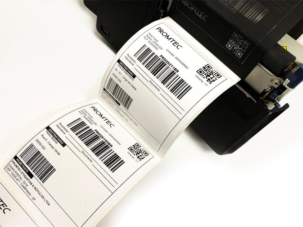 impressão de etiqueta para correios com dados variaveis promtec
