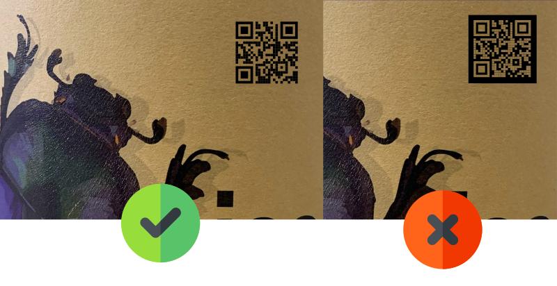 Evite estes erros ao usar QR Code em rótulos e publicidade - inverter cores claras e escuras