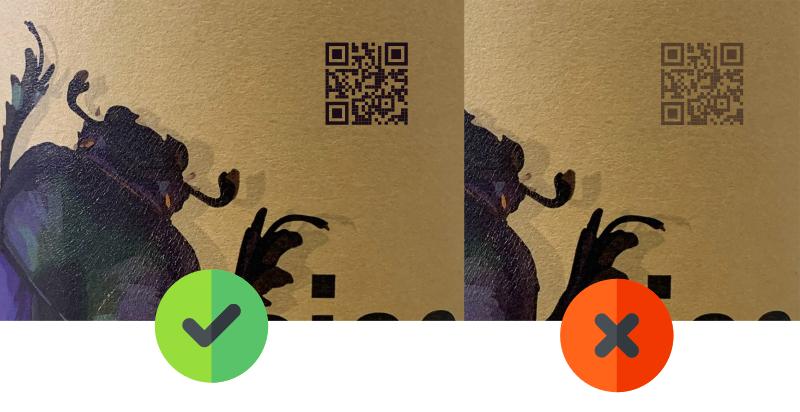 Evite estes erros ao usar QR Code em rótulos e publicidade para evitar - falta de contraste